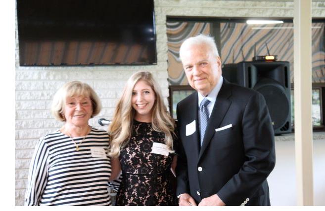 Ruth Ann Schlesinger with the 2018 Scholarship Award winner Nakea Barksdale